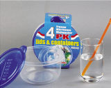 Тары для хранения еды с крышками BPA освобождают, многоразово, Microwavable
