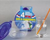 Runder Plastik nimmt Microwavable Nahrungsmittelbehälter 25oz weg