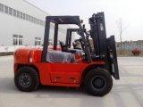 Diesel8ton gabelstapler mit hydraulischer Übertragung und Isuzu Motor 6bg1, 3000mm 2 Stadiums-breiter Ansicht-Mast
