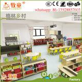 Мебель детсада конструкции шаржа деревянная, шкаф игрушек малышей для сбывания