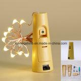 Ouvrage étoilé féerique de décoration de maison d'usager de lumières de lièges de chaîne de caractères de la forme 20 DEL de liège de taquet de bouteille