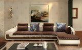 Sofá de couro da HOME do canto da mobília da sala de visitas (UL-NSC030)