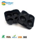 Molde flexível preto do fabricante das esferas da esfera de gelo do silicone