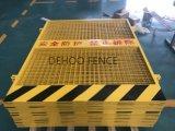 Cerca de segurança revestida da borda da estrada do pó livre da manutenção para o projeto dos bens imobiliários municipais e