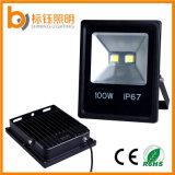Indicatore luminoso di inondazione esterno esterno di illuminazione 100W LED dell'indicatore luminoso nero sottile ultrasottile del giardino IP67