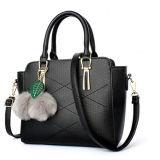 Handtaschen-Damen 2017 mit Pelz-Kugel-Zubehör-Schultaschen-Beuteln für Frauen Sy8168