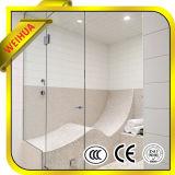 목욕탕 샤워실을%s 구멍 그리고 경첩을%s 가진 4mm-19mm 강화 유리