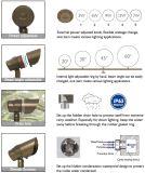 IP65 ETL Paisagem ajustável Spotlight & remoto RGBW bronze Garden Light