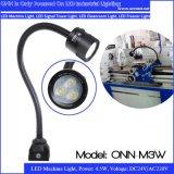 luz anodizada 5W del cuello de cisne de la iluminación LED del CNC de la luz LED de la máquina del LED
