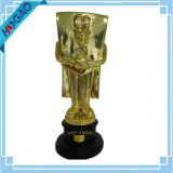 Transport gratuit grand du football d'imagination de trophée de statue du football de la résine lourde gentille 8 ""