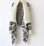 Maglione di lavoro a maglia casuale delle donne del maglione delle donne di modo del cardigan di inverno e di autunno grande