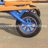편류 스쿠터 무브러시 모터가 3개의 바퀴에 의하여 E 스쿠터 기동성 접혔다