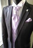 2017新しい新郎によって縞で飾られる結婚の夕方ビジネスおよび人党スーツ