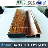 Tamanho personalizado da cor do gabinete da mobília do perfil grão de madeira de alumínio de alumínio
