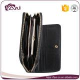 Бумажник RFID чернокожих женщин, бумажник муфты PU кожаный, бумажник застежка-молнии