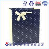 Saco de papel luxuoso extravagante feito sob encomenda do presente do saco de papel do presente com amostra livre