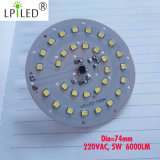Junta 220V LED para el bulbo del sensor LED de voz Luz 5W