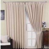 Moderno estilo limpio sólido Chenille Blackout cortina de tela