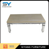 Tavolino da salotto europeo dell'acciaio inossidabile della mobilia dell'hotel di disegno