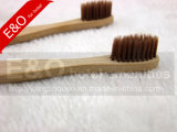 2-PC ajustou o Toothbrush de bambu Eco-Friendly com cerda de bambu