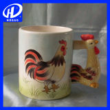Подарок кружки кофеего творческой покрашенный вручную животной кружки Giraffe шаржа 3D керамический домашний