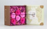 Fiori della Rosa con la casella per i favori del regalo di giorno del biglietto di S. Valentino di compleanno della festa nuziale