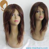 Peluca fina llena de calidad superior de la piel del pelo humano de la Virgen para las mujeres