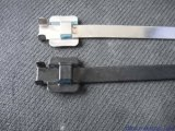 Schnelle Freigabe-Edelstahl-abwerfbarer Kabelbinder mit Beschichtung