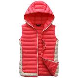 Veste do estilo da forma do poliéster do superior da veste 100% do inverno das mulheres novas do projeto