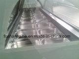 Gebogener Glasspitze-Eiscreme-Schaukasten