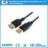 Heißer Schwarz-Mann des Verkaufs-2016 zum weiblichen USB-Extensions-Kabel