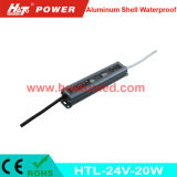 bloc d'alimentation imperméable à l'eau de l'interpréteur de commandes interactif en aluminium continuel DEL de la tension 24V-20W