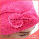 Schnelles trockenes korallenrotes Vlies-Haar-trocknendes Tuch für alle Altersklassen