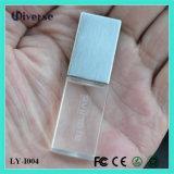 Movimentação maioria barata do flash do USB do cristal 4GB 8GB 16GB 32GB do metal do OEM do presente relativo à promoção com luz 2.0 do diodo emissor de luz disco de 3.0 memórias