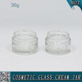 transparentes Glassahneglas 30ml mit Plastikschutzkappe