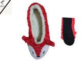 6つのカラー動物のヘッドプラシ天の屋内靴(RY-SL1630)