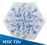 Ink-Jet Blauwe en Witte Hexagon Tegel Mskqhc006 van de Vloer