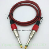 mono enchufe 6.35mm/6.35 6.5mm/6.5 al mono cable del enchufe AV/Speaker/Microphone/Musical