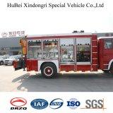 De BrandbestrijdingsVrachtwagen van de Redding van Isuzu met Kruk