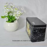 Kundenspezifischer rechteckiger schwarzer Tee-Zinn-Kasten, kleiner Tee-Zinn-Kasten, chinesischer Tee-Zinn-Kasten-Hersteller