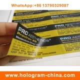 Etiqueta de empacotamento do tubo de ensaio do holograma 10ml da etiqueta da medicina barata