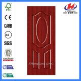 Дешевой кожа двери Veneer праймера меламина MDF HDF белой прокатанная прессформой