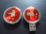 車主USBのフラッシュディスクエポキシのロゴのペン駆動機構2GBのメモリ棒