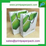 新しい紙袋光沢がある着色された袋のクラフトSosの食糧昼食党袋