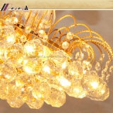 Gouden LEIDENE van de Luxe van de Lamp van het Kristal Eenvoudige Creatieve Moderne Verlichting