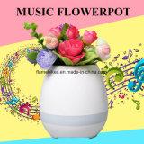 Crisol de flor del altavoz de Bluetooth de la maceta de la música del LED