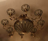 Lampada Pendant antica con rame & vetro per la casa o l'hotel