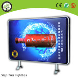 Outdoor Street Middle Lamp Post Publicidade LED Light Box