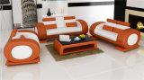 Самомоднейшая китайская софа белой кожи мебели установленная для гостиницы/офиса/живя комнаты (HC6024)