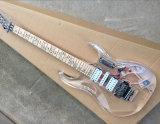 Hanhai Acrylic Guitare électrique avec lumières LED colorées
